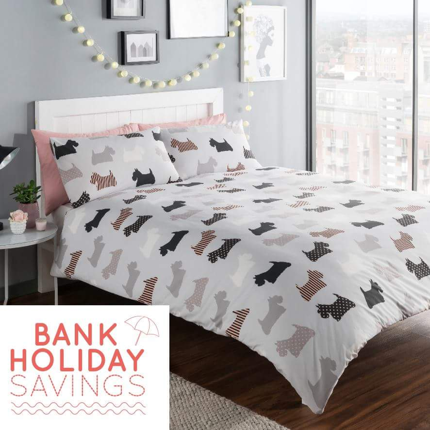 Bank Holiday Savings At Ponden Home Interiors! Cute Scottie Dog Quilt Cover  Set From Just £10! Part 81