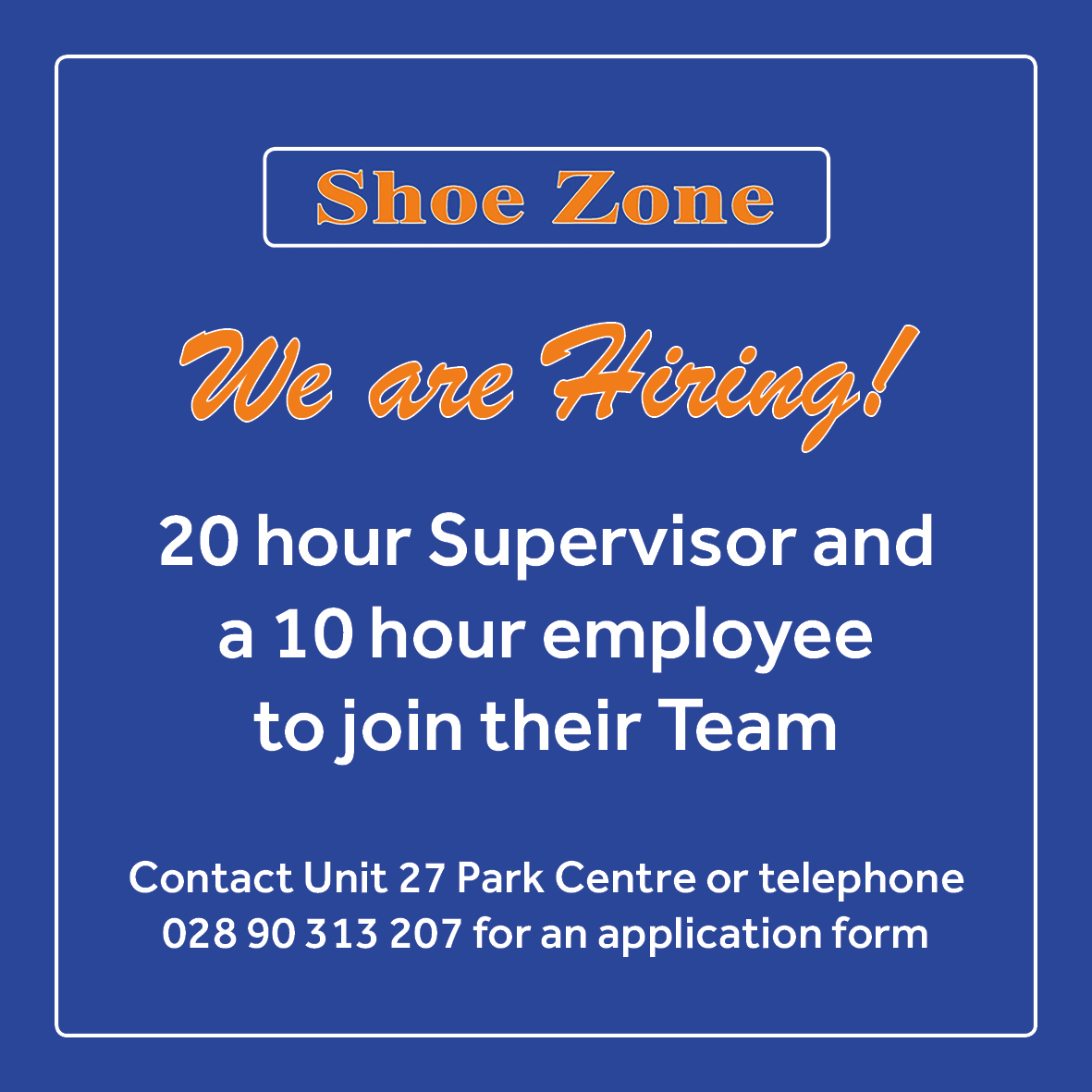 Shoezone Job Advert