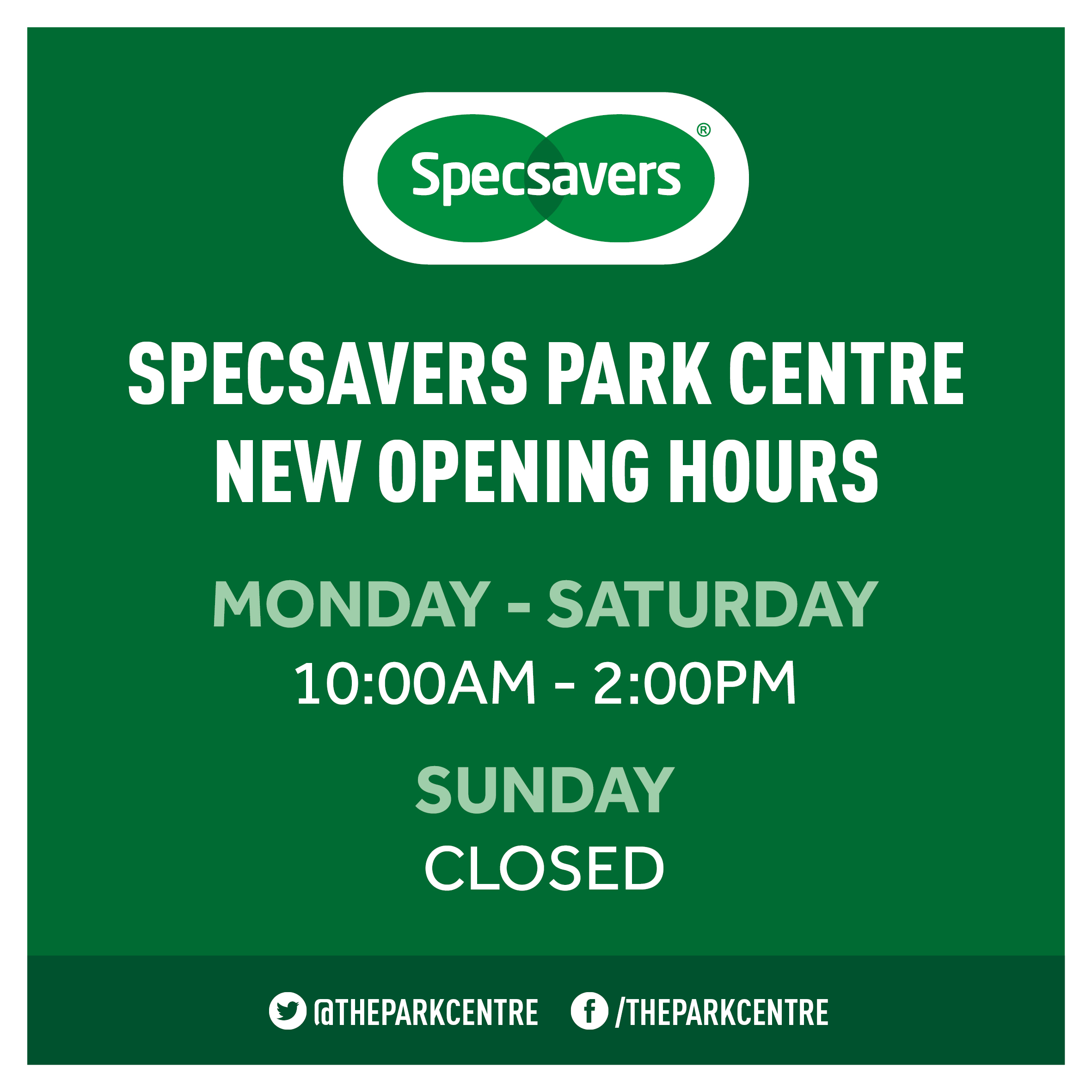 Specsavers Opening Hours